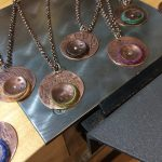 I am so happy with these copper and wool necklaces!