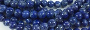 strands of round lapis lazuli beads