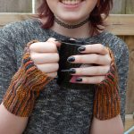 simple garter stitch fingerless mitts