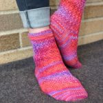 lace sock designed to sooth sore feet